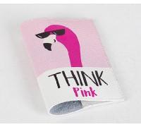 Кожаная обложка для паспорта -Think Pink-