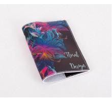Кожаная обложка для паспорта -Floral Design-