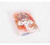 Кожаная обложка для паспорта -Ганеша-