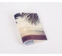 Кожаная обложка для паспорта -Тропики-