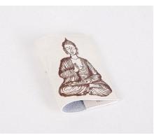 Кожаная обложка для паспорта -Будда-