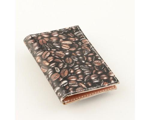 Обложка для ID карты (биометрического паспорта) -Кофе-