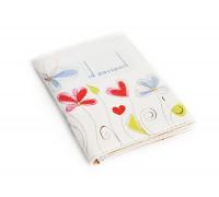 Обложка для ID паспорта -Цветы на белом фоне-