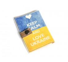 Обложка для ID паспорта -Keep calm and love Ukraine-