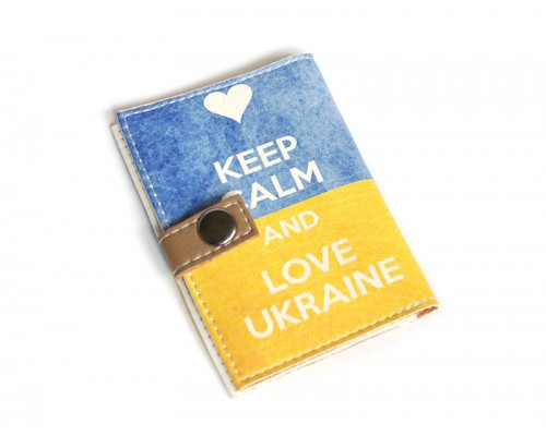 Обложка для ID паспорта -Keep calm and love Ukraine-