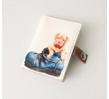 """Обложка для id-паспорта """"Щенок в ботинке"""""""