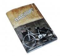 Обложка для паспорта -Велосипед графити-