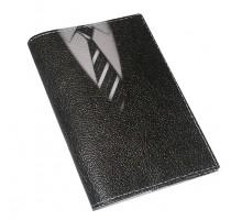 Обложка для паспорта из кожи -Галстук-