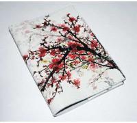 Винтажная обложка на паспорт -Сакура-