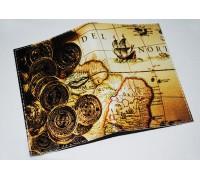 Обложка для паспорта/загранпаспорта -Золотые монеты-