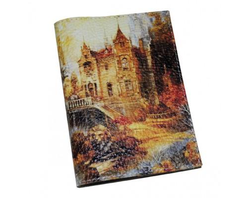 Женская обложка для паспорта -Осенний замок-