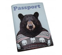 Обложка для паспорта -Медведь в свиторе-