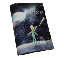 Кожаная обложка для паспорта -Маленький принц-