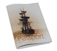 Обложка для паспорта -Кораблик-