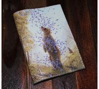Обложка на паспорт -Медведь и бабочки-