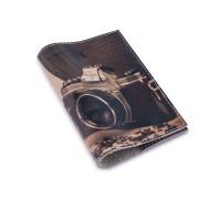 Кожаная обложка для паспорта -Будни фотографа-