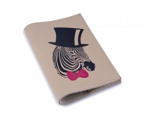 Винтажная обложка для паспорта -Зебра-