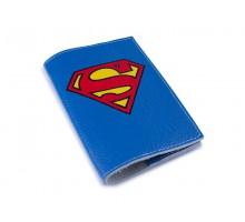 Кожаная обложка для паспорта -Супермен-