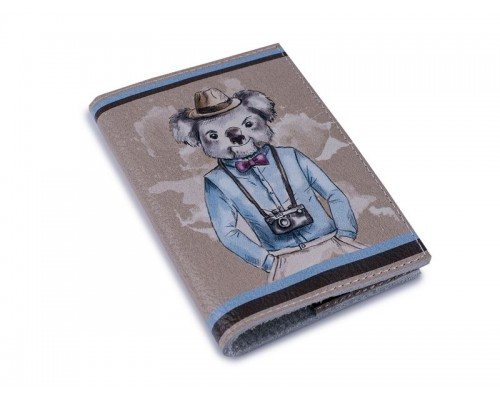 Кожаная женская обложка для паспорта - Коала-