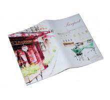 Кожаная обложка для паспорта -Столик для свиданий-