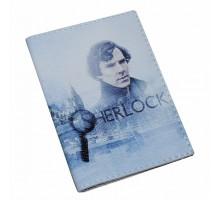 Винтажная обложка на паспорт -Шерлок-