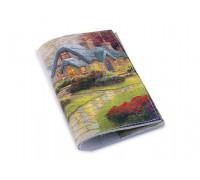 Красивая обложка на паспорт -Сказочный дворик-