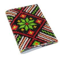 Кожаная обложка для паспорта -Вышивка-