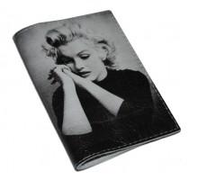 Кожаная женская обложка для паспорта -Задумчивая Мерлин-