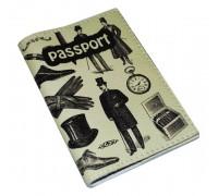 Мужская обложка для паспорта -Джентельмен-