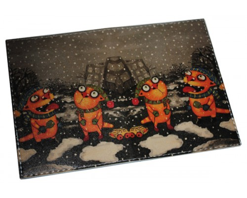 Обложка на паспорт кожаная -Рыжие коты-