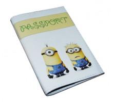 Прикольная обложка для паспорта -Миньоны-