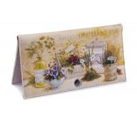 Женский кошелек -Jardin-. Ручная работа