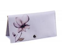 Женский кошелек -Розовый цветок-. Ручная работа