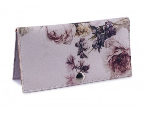 Женский кошелек -Античные цветы-. Ручная работа