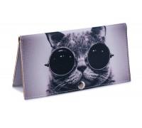 Женский кошелек -Крутой кот-. Ручная работа