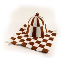 """Подарочный набор для бани """"Клетка"""", коричневый"""