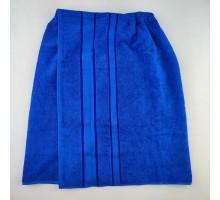 Парео махровое синее для бани и сауны