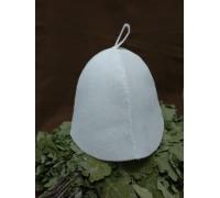 Шапка из искусственного войлока белая от 11грн