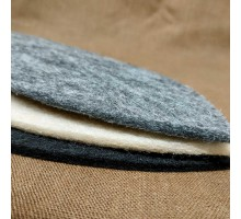 Шапка из искусственного войлока (5мм) от 25грн. Серый, бежевый, коричневый.