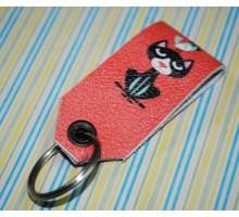 Брелок для ключей -Кот с воробышком-