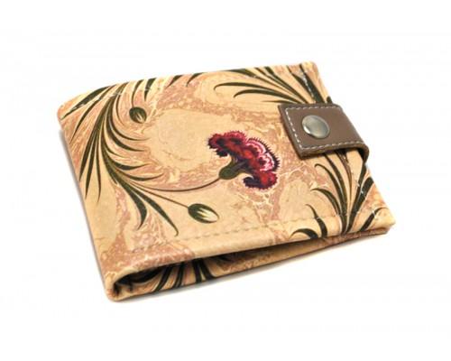 "Женский кошелек ""Бордовый цветок. Картина на воде"""