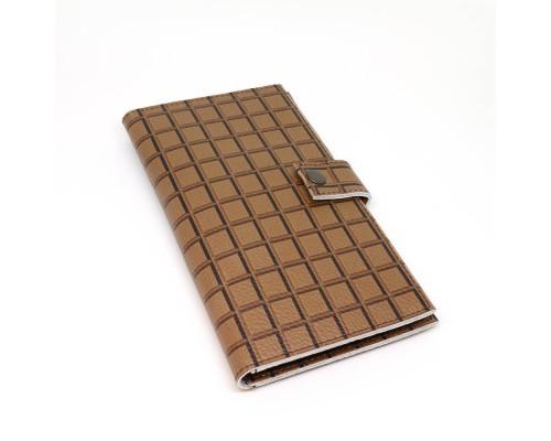 """Тревел-кейс для документов, карточек и денег """"Шоколадная плитка"""""""